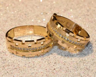 حلقه ست ازدواج زرد