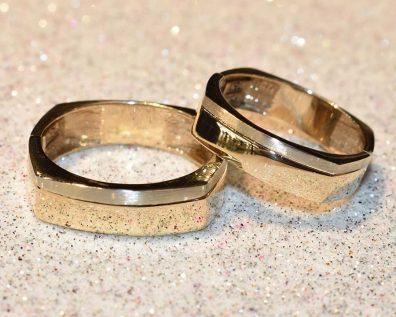 حلقه ست طلا دو رنگ