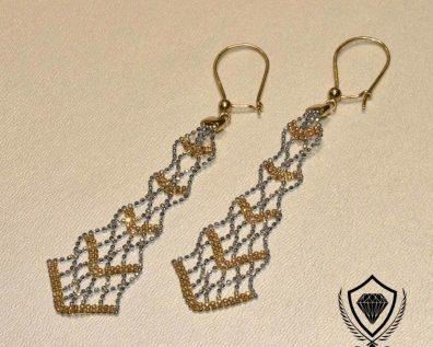 گوشواره طلا زنجیری