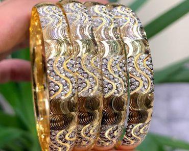 النگو طلا دو رنگ