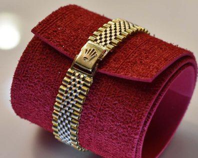دستبند طلا رولکس رنگ زرد و سفید