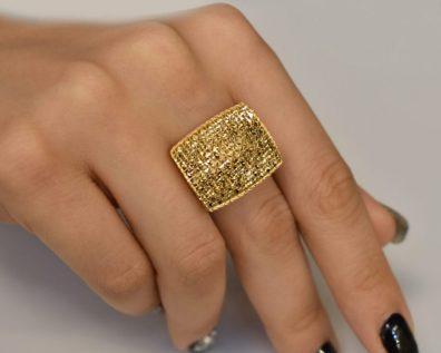 انگشتر طلا درشت