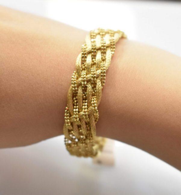 دستبند طلا یاسان زرد
