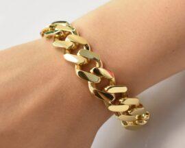 دستبند طلا کارتیه پهن