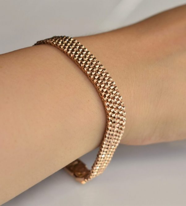 دستبند رولکس طلا رزگلد