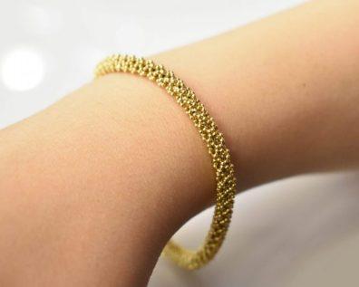 دستبند خودکاری طلا زرد