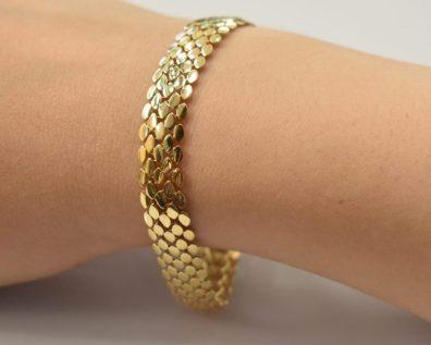 دستبند پوست ماری طلا