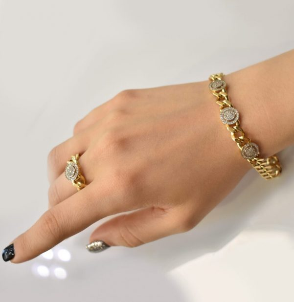 دستبند طلا و انگشتر طلا