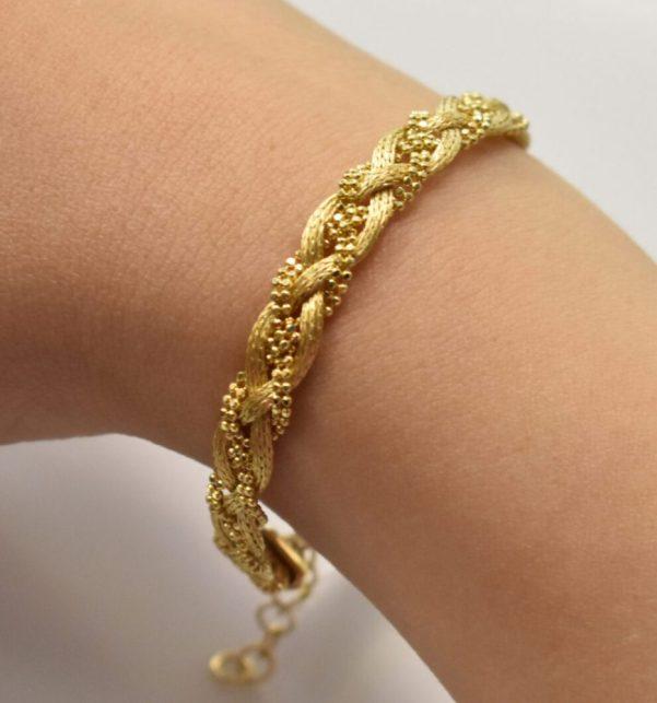 دستبند طلا یاسان باریک