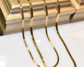 گردنبند هرینگبون طلا